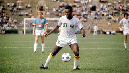 Pele menjadi dinobatkan menjadi legenda Brasil terhebat sepanjang masa. - INDOSPORT