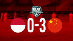 Indosport - Hasil pertandingan Indonesia U-19 vs China U-19.