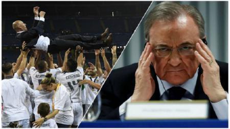 Siap-siap Real Madrid ketimpa sial berlipat ganda gara-gara Florentino Perez selaku presidennya cari gara-gara dengan UEFA lewat Liga Super Eropa. - INDOSPORT