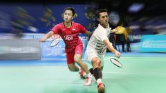 Indosport - Jonatan Christie dan Anthony Ginting.
