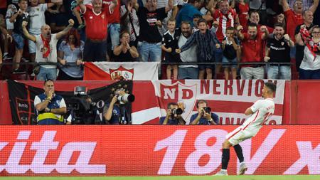 Selebrasi gol Andre Silva - INDOSPORT