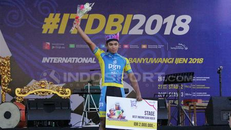 Jamilidin Nouvardianto menjadi juara pada etape kedua ITDBI 2018. - INDOSPORT