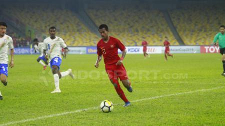 Aksi Muhammad Supriadi bersama Timnas Indonesia U-16. - INDOSPORT
