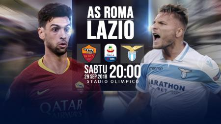AS Roma vs Lazio. - INDOSPORT