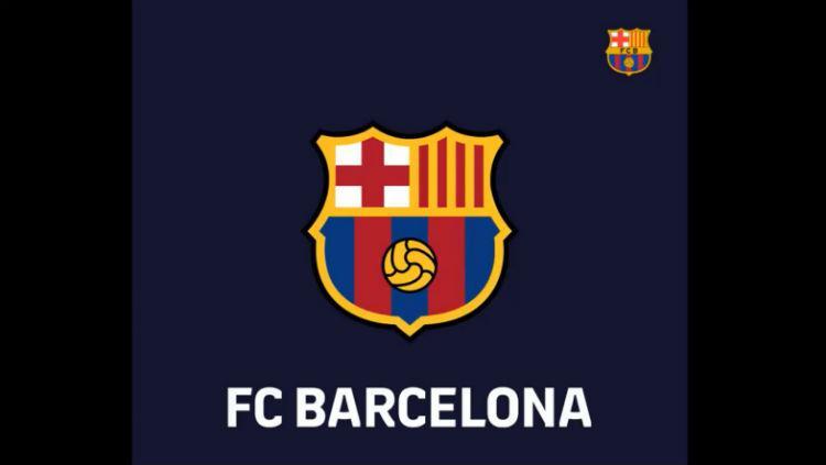 Rencana logo baru Barcelona. Copyright: Twitter.com/FCBarcelona