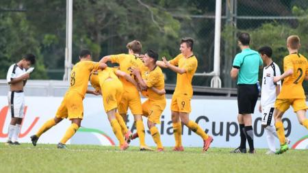 Selebrasi pemain Timnas Australia U-16. - INDOSPORT