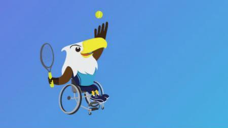 Logo tenis kursi roda di Asian Para Games 2018. - INDOSPORT
