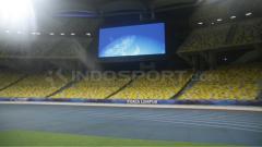 Indosport - Situasi Stadion Bukit Jalil, Malaysia.