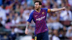 Indosport - Lionel Messi di laga Barcelona vs Bilbao.