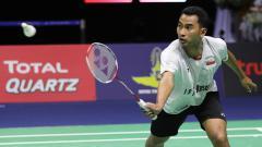 Indosport - Tommy Sugiarto berhasil lolos ke babak kedua China Open 2019 usai mengalahkan Vincent Wong Wing Ki dengan skor 21-10, 21-15, Selasa (17/09/19) hari ini.
