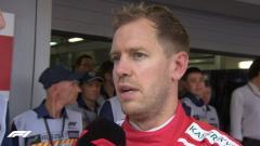 Indosport - Sebastian Vettel hanya mampu menempati posisi ketiga di Formula 1 Rusia.