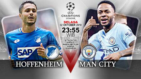 Hoffenheim vs Manchester City. - INDOSPORT