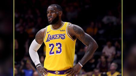 LeBron James, pemain megabintang LA Lakers. - INDOSPORT