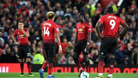 Para pemain Man United tampak sedih. - INDOSPORT