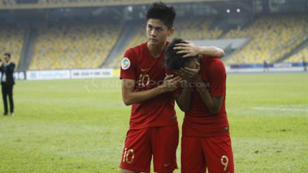 Rendy Juliansyah dan Sutan Zico menangi karena gagal membawa Indonesia ke semifinal Piala Asia. - INDOSPORT