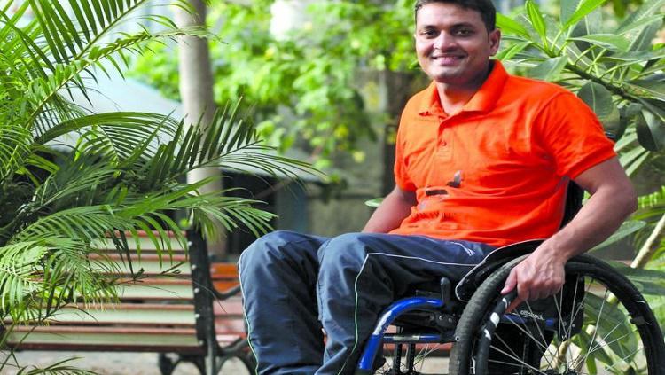 Aalam Shaikh, perenang disabilitas asal India Copyright: asianage