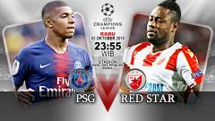 Indosport - Paris Saint Germain vs Red Star.