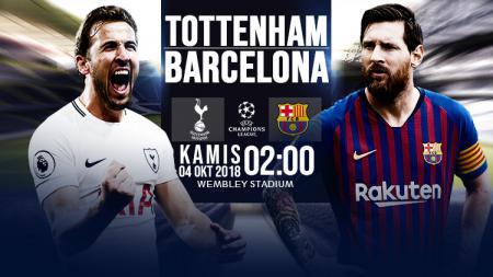 Tottenham Hotspur vs Barcelona. - INDOSPORT