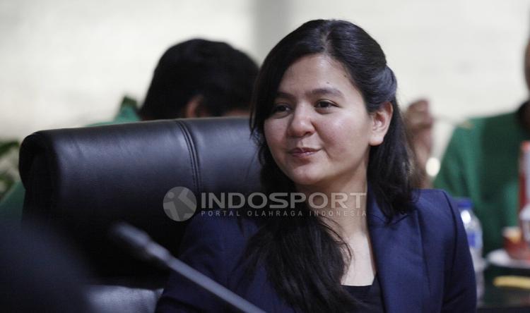 Sekjen PSSI, Ratu Tisha Destria. Copyright: Herry Ibrahim/INDOSPORT