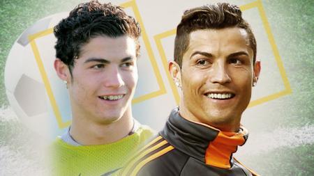 Cristiano Ronaldo dulu dan sekarang. - INDOSPORT