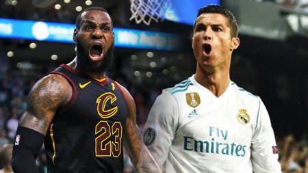 LeBron James dan Cristiano Ronaldo. - INDOSPORT