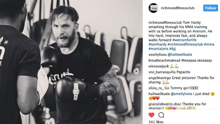 Tom Hardy, Berlatih MMA Copyright: Instagram