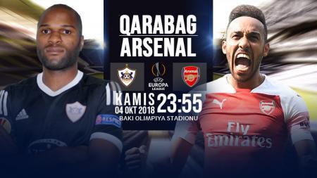 Qarabag vs Arsenal. - INDOSPORT