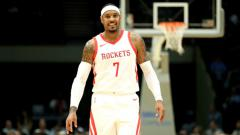 Indosport - Carmelo Anthony di laga Memphis Grizzlies v Houston Rockets.