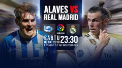 Indosport - Deportivo Alaves vs Real Madrid.