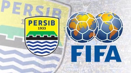 Logo Persib Bandung dan FIFA. - INDOSPORT
