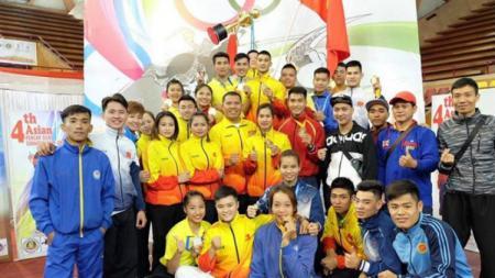 Atlet-atlet yang berlaga di ajang Asian Pencak Silat Championship di India. - INDOSPORT