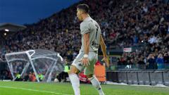 Indosport - Cristiano Ronaldo saat merayakan gol ke gawang Udinese di Serie A Italia, Sabtu (06/10/18).