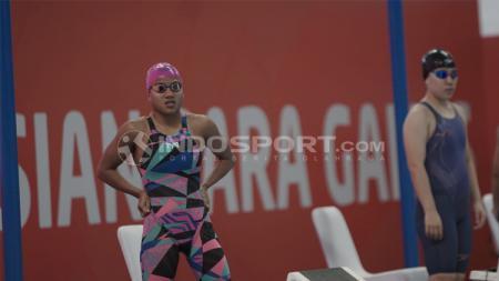 Atlet renang Indonesia di Asian Para Games 2018, Syuci Indriani meraih medali perunggu. - INDOSPORT
