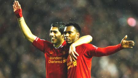 Luis Suarez dan Daniel Sturridge saat keduanya membela Liverpool. - INDOSPORT