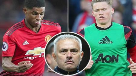 Marcus Rashford dan Scott McTominay disebut belum mempunyai mental yang kuat oleh Mourinho - INDOSPORT