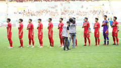 Indosport - Uji coba Indonesia vs Saudi Arabia.