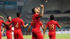 Indosport - Selebrasi pemain Timnas Indonesia.