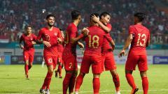 Indosport - Indonesia vs Myanmar di laga uji coba jelang Piala AFF 2018.