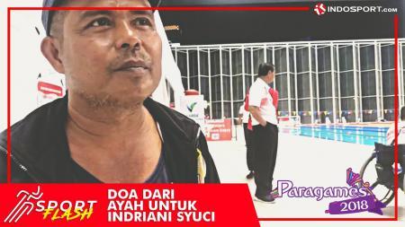 Ayahanda Indriani Syuci berikan doa untuk kesuksesan sang anak di Asian Para Games 2018. - INDOSPORT