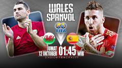 Indosport - Wales vs Spanyol.