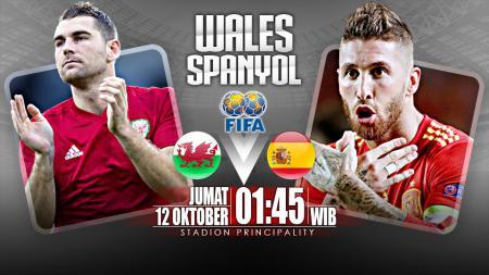 Wales vs Spanyol. - INDOSPORT