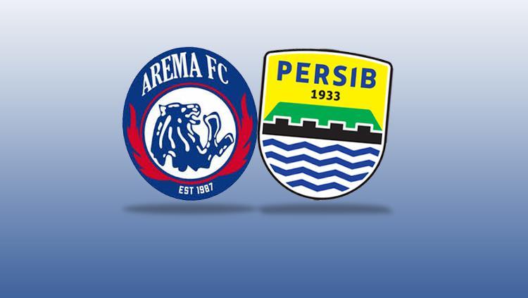 Logo Arema FC vs Persib Bandung. Copyright: INDOSPORT