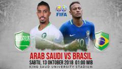 Indosport - Prediksi Arab Saudi vs Brasil.