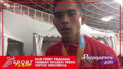Nur Ferry Pradana dari cabang lari 100 meter putra T45/46/47 raih perak Asian Para Games 2018.