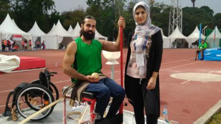 Mahmoud Zahoud, atlet Palestina di Asian Para Games 2018. - INDOSPORT