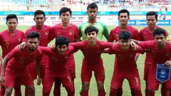 Indosport - Skuat Timnas Indonesia U-19 melawan Yordania.