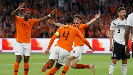 Belanda vs Jerman dalam laga UEFA Nations League. - INDOSPORT