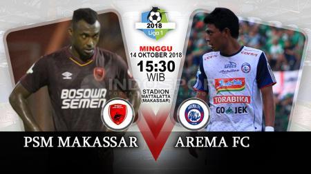 PSM Makassar vs Arema FC. - INDOSPORT