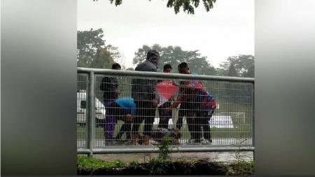 Pemain futsal Malaysia yang tersambar petir. - INDOSPORT