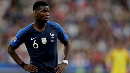 Paul Pogba unjuk kebolehan bersama Timnas Prancis. - INDOSPORT